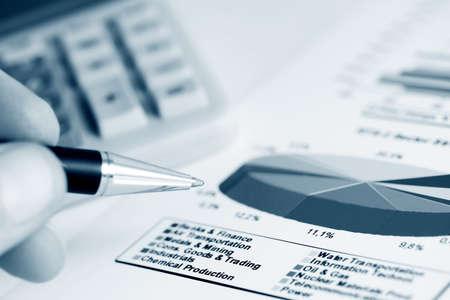 Financial graphs analysis photo