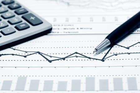 Finanzielle Graphen und Diagramme Analyse Standard-Bild - 23858825