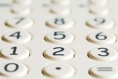 Closeup of calculator keypad photo