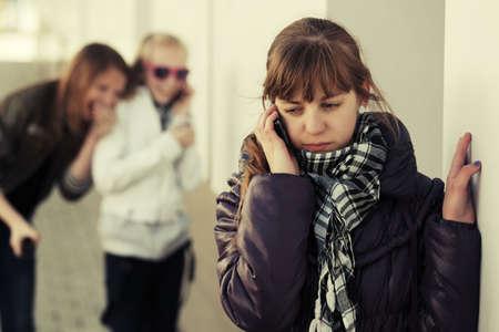 happy teenager: Teenage school girl calling on the cell phone