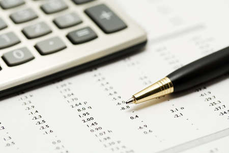 Financial accounting 写真素材
