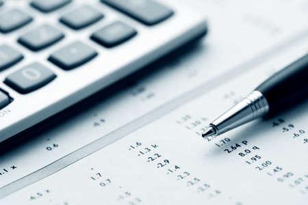 Financial accounting Archivio Fotografico