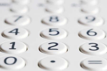 teclado numérico: Primer plano de teclado de una calculadora