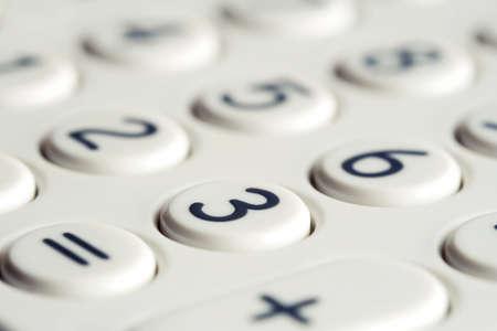 teclado num�rico: Primer plano de teclado de una calculadora