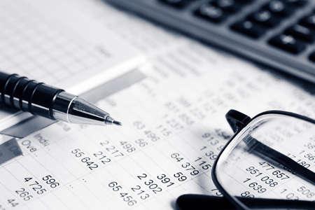 Financiële boekhouding Stockfoto