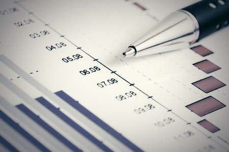 Financial graphs and charts