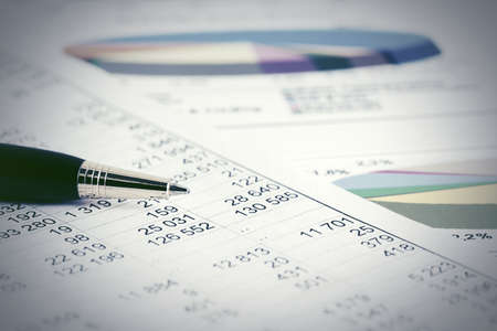 Stock market graphs and charts analysis Stock Photo