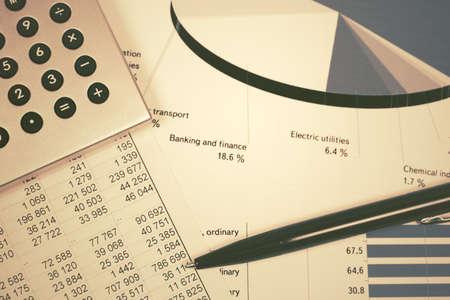 Financial accounting stock market graphs and charts  Archivio Fotografico