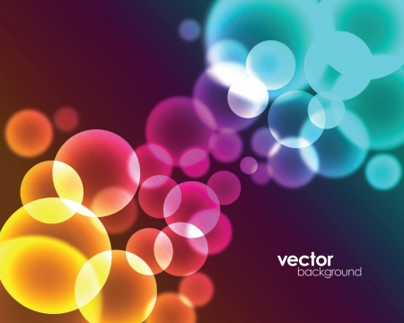 Colorful and stylish background design with the elements of circles and lights. Illustration