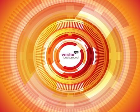 Abstract retro technology circles vector background. Stock Vector - 11019363