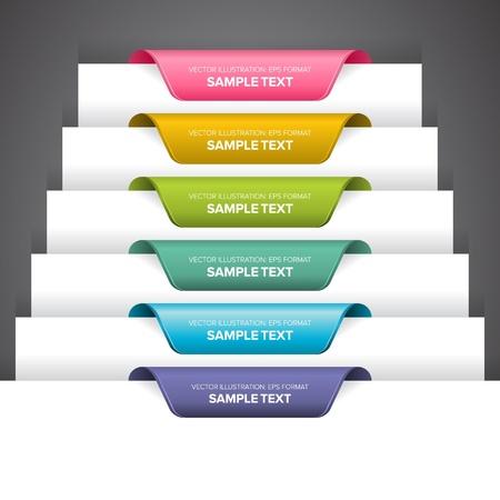 Bookmark Etiketten, Aufkleber oder Angaben auf dem Rand einer Seite. Standard-Bild - 11536819