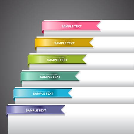Bookmark labels, stickers or indicators on the edge of a page Stock Vector - 17721497
