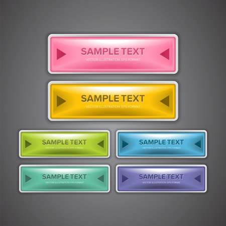 A set of colorful web buttons for website design purpose. Illustration