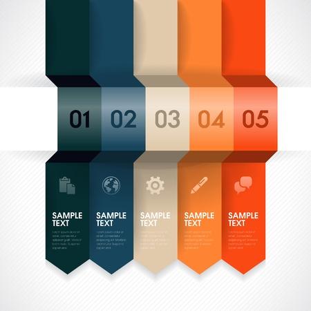 Nummerierte Banner-Design-Vorlage für Infografik, Website, Werbung, usw. Standard-Bild - 18813091