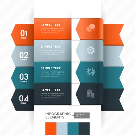 Numbered banner design template with modern business style for info graphic, website, advertisement, work flow layout, diagram, number options, step up options, etc