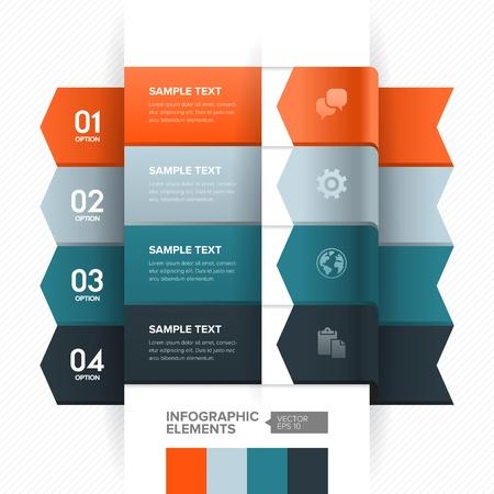 Nummerierte Banner-Design-Vorlage mit modernen Business-Stil für Infografik, Website, Werbung, Workflow-Layout, Diagramm, Anzahl Optionen, step up-Optionen, etc Standard-Bild - 21776570