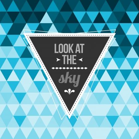Weinlese-Hipster-Label-Design mit dem Leben Zitat auf Retro-Hintergrund mit nahtlose geometrische Muster Standard-Bild - 23289283