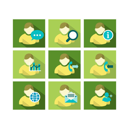 A set of flat icon design of user account technology with multiple functions  Illustration