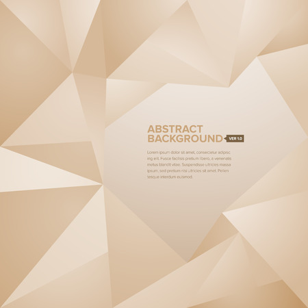 Abstract geometrical and polygonal background with editable title and body texts
