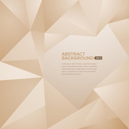 Abstrakte geometrische und polygonale Hintergrund mit editierbaren Titel und Texte Körper Standard-Bild - 26051097
