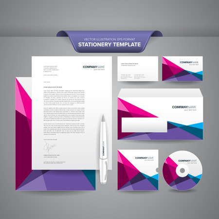 Complete set of business stationery templates such as letterhead complete set of business stationery templates such as letterhead envelope business card etc friedricerecipe Images