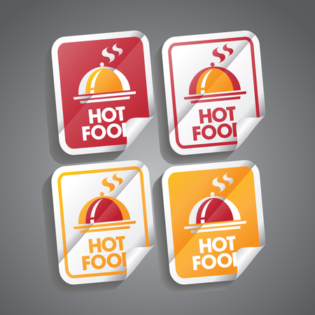 sizzling: Hot food stickers set