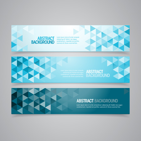 A set of vector geometric banner design that can be used in cover design, website background or advertising  Vector