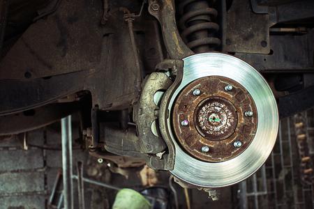 disc brack of car to repairs in auto car service Redakční