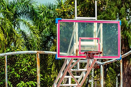 basketball hoop in park court