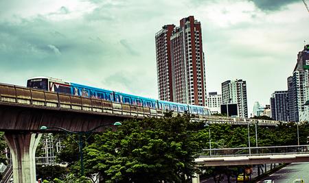Bangkok,Thailand-  August 27,2018: skytrain transit system