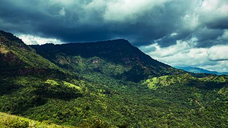 beatiful viwe mountain and skyline at khao kho Thailand