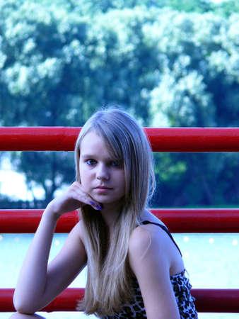 Estera, contrast background  Stock Photo