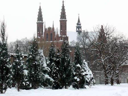 Winter scenery in Poland  Stock Photo