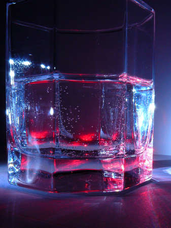 Glass from water - close relations  Stock Photo