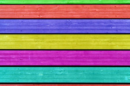 Colourful background, colourful boards, colourful fence