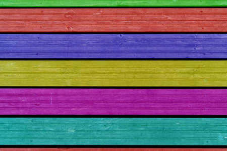 Colourful background, colourful boards, colourful fence Reklamní fotografie - 15903458