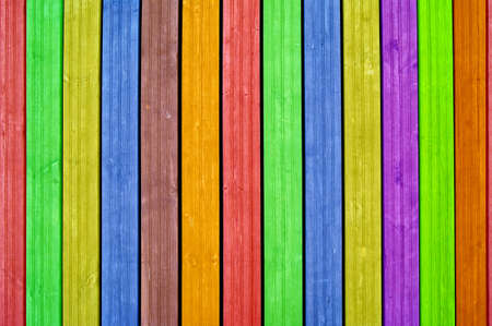 Colourful background, colourful boards, colourful fence Reklamní fotografie - 15903653