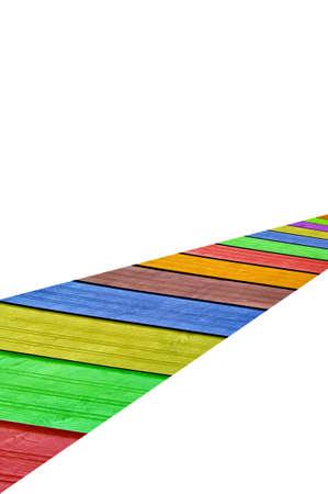 Colourful platform