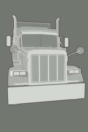 kw: American Truck Stock Photo