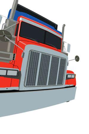American Colourful Truck Stock Photo