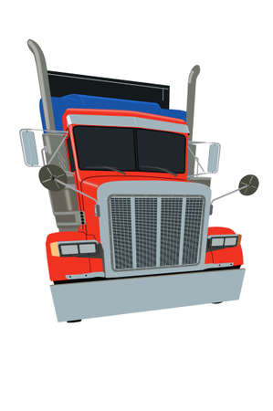 kw: American Colourful Truck Stock Photo