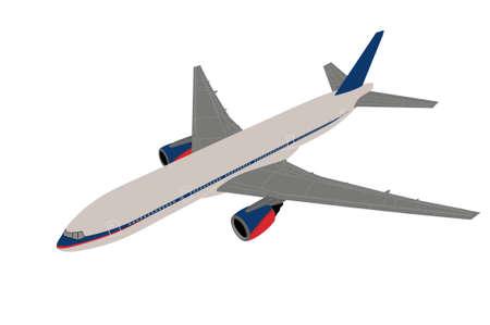 Airplane on white background Stock Photo