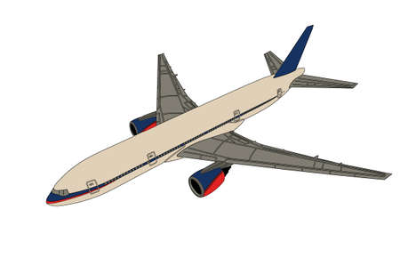 Airplane on white background photo