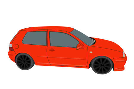 Personal car on white background Stock Photo