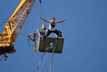 Woman s, jump Bungee