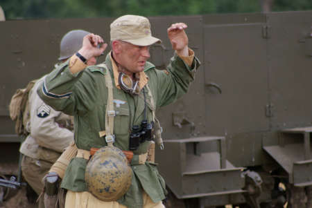 allies: Front in Africa, soldiers Allies and Germanys  Editorial