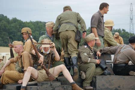 prisoner of war: Front in Africa, German soldiers  Editorial