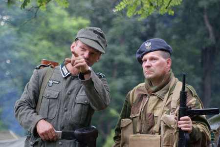 Speaking Poland and German soldier