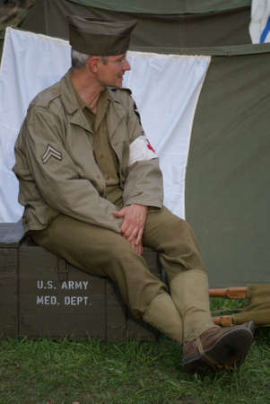 Soldier of USA Medical help Medical\