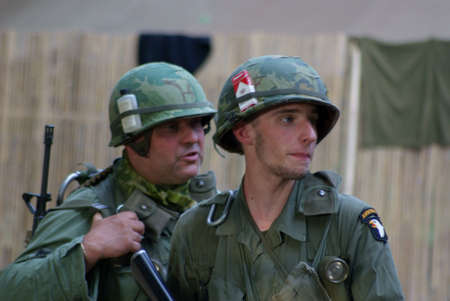 The soldiers of USA in Vietnam